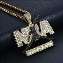NBA - Never Broke Again Pendant ,  , Green Box Jewellers - Custom Diamond Pendant - Diamond Jewelry - Custom Diamond Jewelry - Diamond Iced Out Hip Hop Jewelry