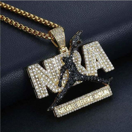 NBA - Never Broke Again Pendant - Green Box Jewellers