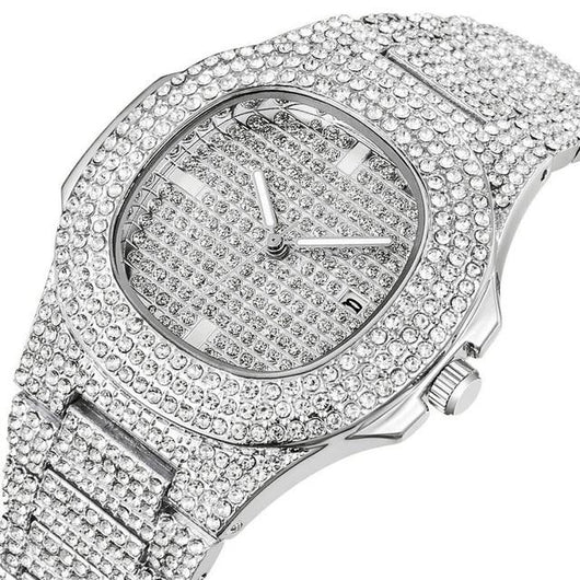Fully Iced Watch with Multiple Custom Combos ,  , Green Box Jewellers - Custom Diamond Pendant - Diamond Jewelry - Custom Diamond Jewelry - Diamond Iced Out Hip Hop Jewelry
