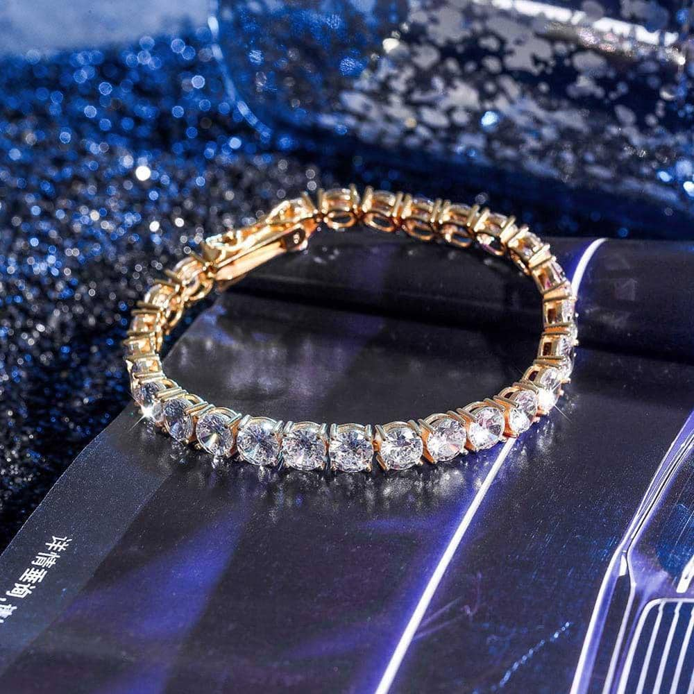 .925 Sterling Silver VVS Diamond Tennis Bracelet  -   - GreenBox Jewellers - Hip Hop Jewelry - iced out pendant - gold cuban link - shop gld - gld - gold jewelry