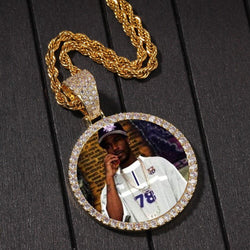 Custom Photo Pendant ,  , Green Box Jewellers - Custom Diamond Pendant - Diamond Jewelry - Custom Diamond Jewelry - Diamond Iced Out Hip Hop Jewelry