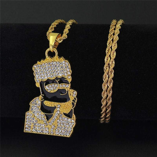 Bart Simpson Pendant , Bart Simpson Pendant , Green Box Jewellers - Custom Diamond Pendant - Diamond Jewelry - Custom Diamond Jewelry - Diamond Iced Out Hip Hop Jewelry