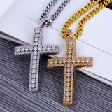 Fully Iced Out 3 Layer Cross - Green Box Jewellers
