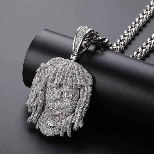 Lil Pump pendant with cuban chain ,  , Green Box Jewellers - Custom Diamond Pendant - Diamond Jewelry - Custom Diamond Jewelry - Diamond Iced Out Hip Hop Jewelry