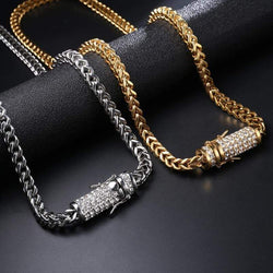 6mm Gold Box Link Chain ,  , Green Box Jewellers - Custom Diamond Pendant - Diamond Jewelry - Custom Diamond Jewelry - Diamond Iced Out Hip Hop Jewelry