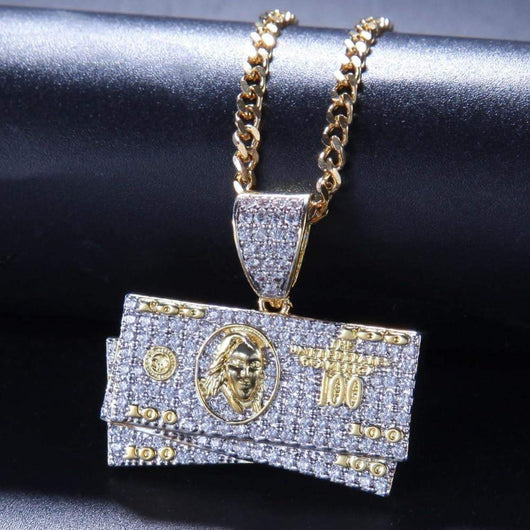 fully Iced Out Benjamins ,  , Green Box Jewellers - Custom Diamond Pendant - Diamond Jewelry - Custom Diamond Jewelry - Diamond Iced Out Hip Hop Jewelry