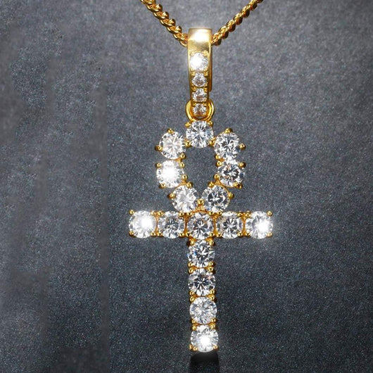 Diamond ANKH Cross ,  , Green Box Jewellers - Custom Diamond Pendant - Diamond Jewelry - Custom Diamond Jewelry - Diamond Iced Out Hip Hop Jewelry