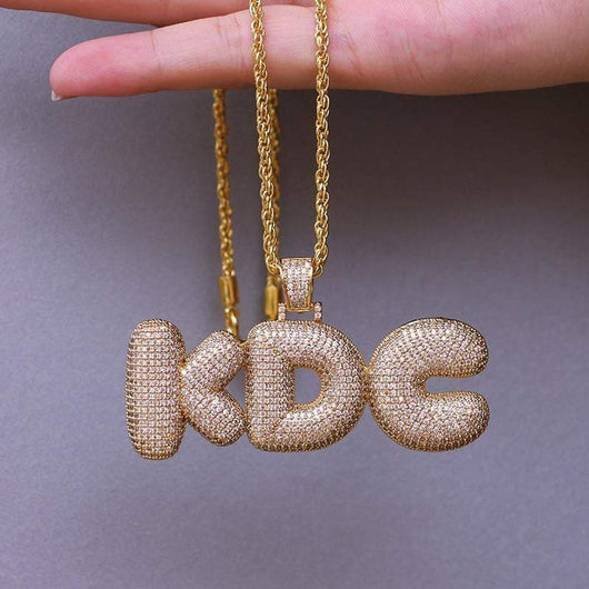 Custom 2-9 Iced Out Bubble Letters ,  , Green Box Jewellers - Custom Diamond Pendant - Diamond Jewelry - Custom Diamond Jewelry - Diamond Iced Out Hip Hop Jewelry