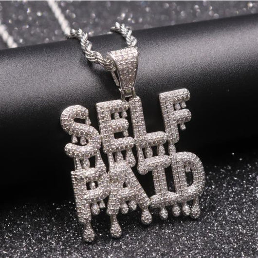 Fully Iced Out SELF PAID Bubble Drip Pendant - Green Box Jewellers