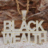 Custom Black Wealth Full Iced Out Pendant ,  , Green Box Jewellers - Custom Diamond Pendant - Diamond Jewelry - Custom Diamond Jewelry - Diamond Iced Out Hip Hop Jewelry