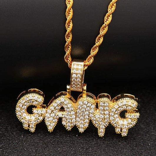 Gang Pendant , Necklace , Green Box Jewellers - Custom Diamond Pendant - Diamond Jewelry - Custom Diamond Jewelry - Diamond Iced Out Hip Hop Jewelry