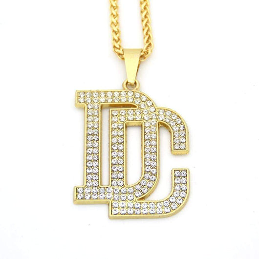 Fully Iced Out DC - Dream Chasers Pendant ,  , Green Box Jewellers - Custom Diamond Pendant - Diamond Jewelry - Custom Diamond Jewelry - Diamond Iced Out Hip Hop Jewelry