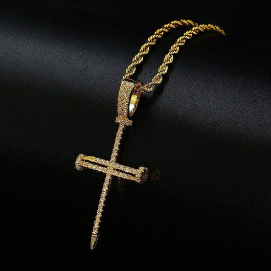 Nail Cross Pendent - Green Box Jewellers