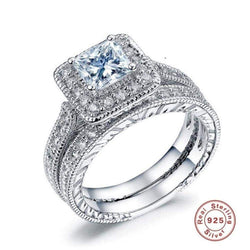 Silver Engagement/Promise Ring - Green Box Jewellers