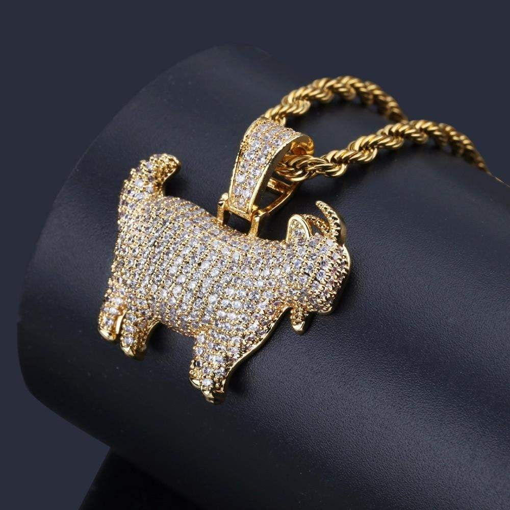 Goat Pendant  - Pendant  - GreenBox Jewellers - Hip Hop Jewelry - iced out pendant - gold cuban link - shop gld - gld - gold jewelry
