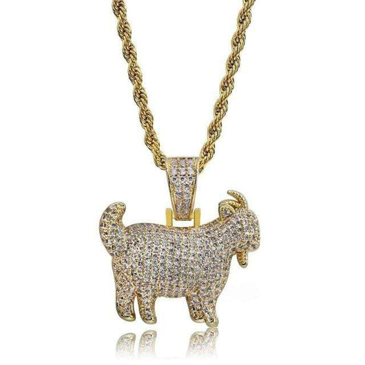 Goat Pendant , Pendant , Green Box Jewellers - Custom Diamond Pendant - Diamond Jewelry - Custom Diamond Jewelry - Diamond Iced Out Hip Hop Jewelry