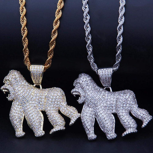 Gorilla Pendant ,  , Green Box Jewellers - Custom Diamond Pendant - Diamond Jewelry - Custom Diamond Jewelry - Diamond Iced Out Hip Hop Jewelry