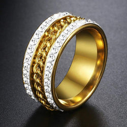 24k Curb Link Gold Ring - Green Box Jewellers