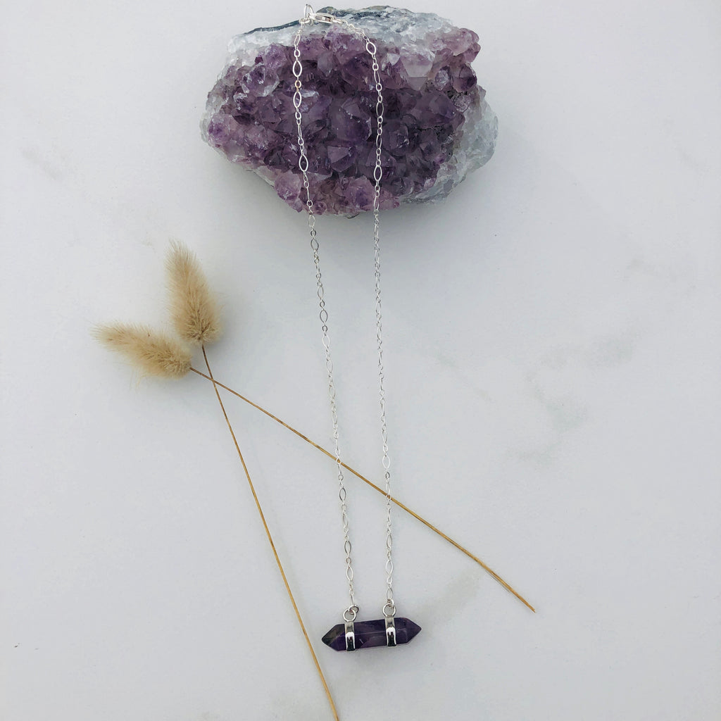 Amethyst Rock Star Goddess Necklace