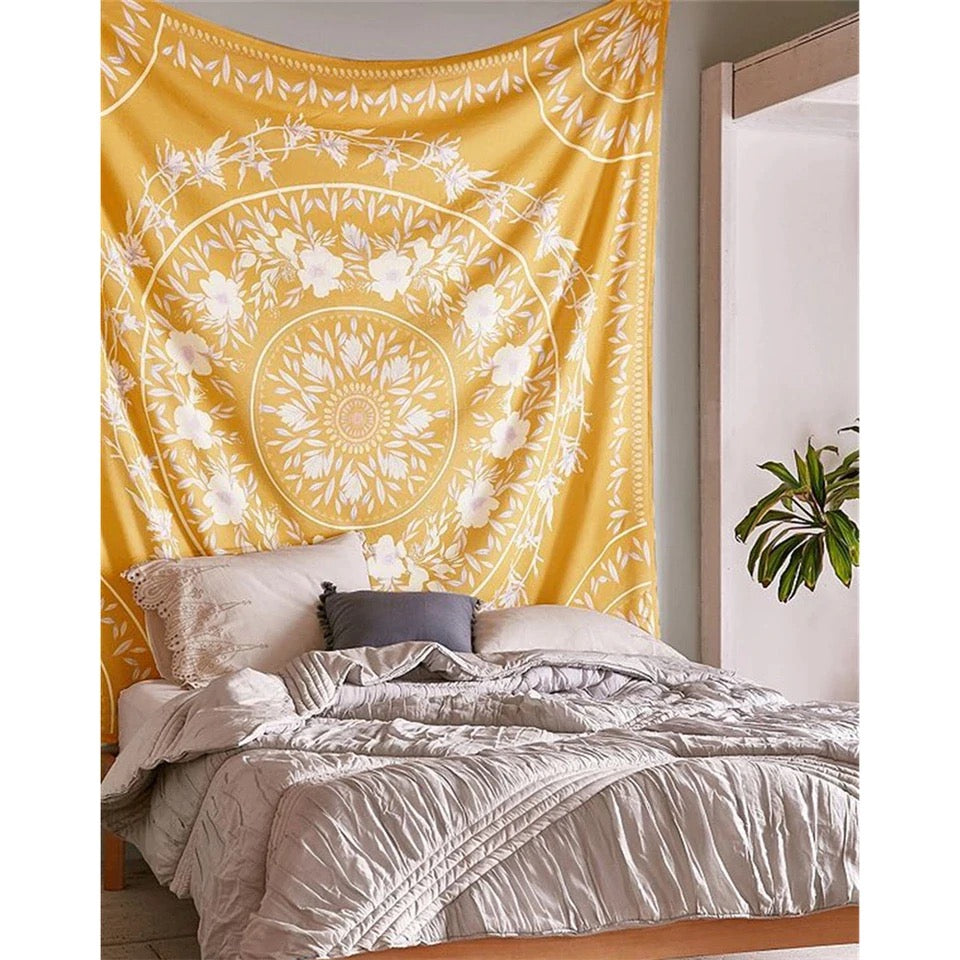 Wall Tapestry x Flower Mandala x Sunshine