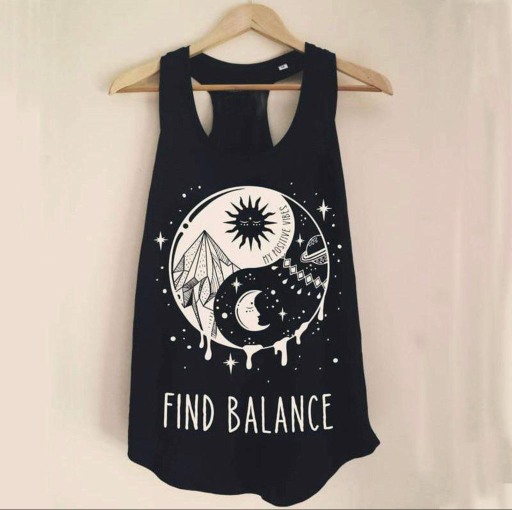 X Find Balance X Tank top x Black