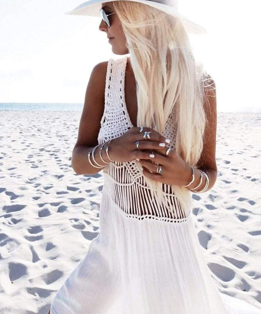 X Boho Crochet Beach dress