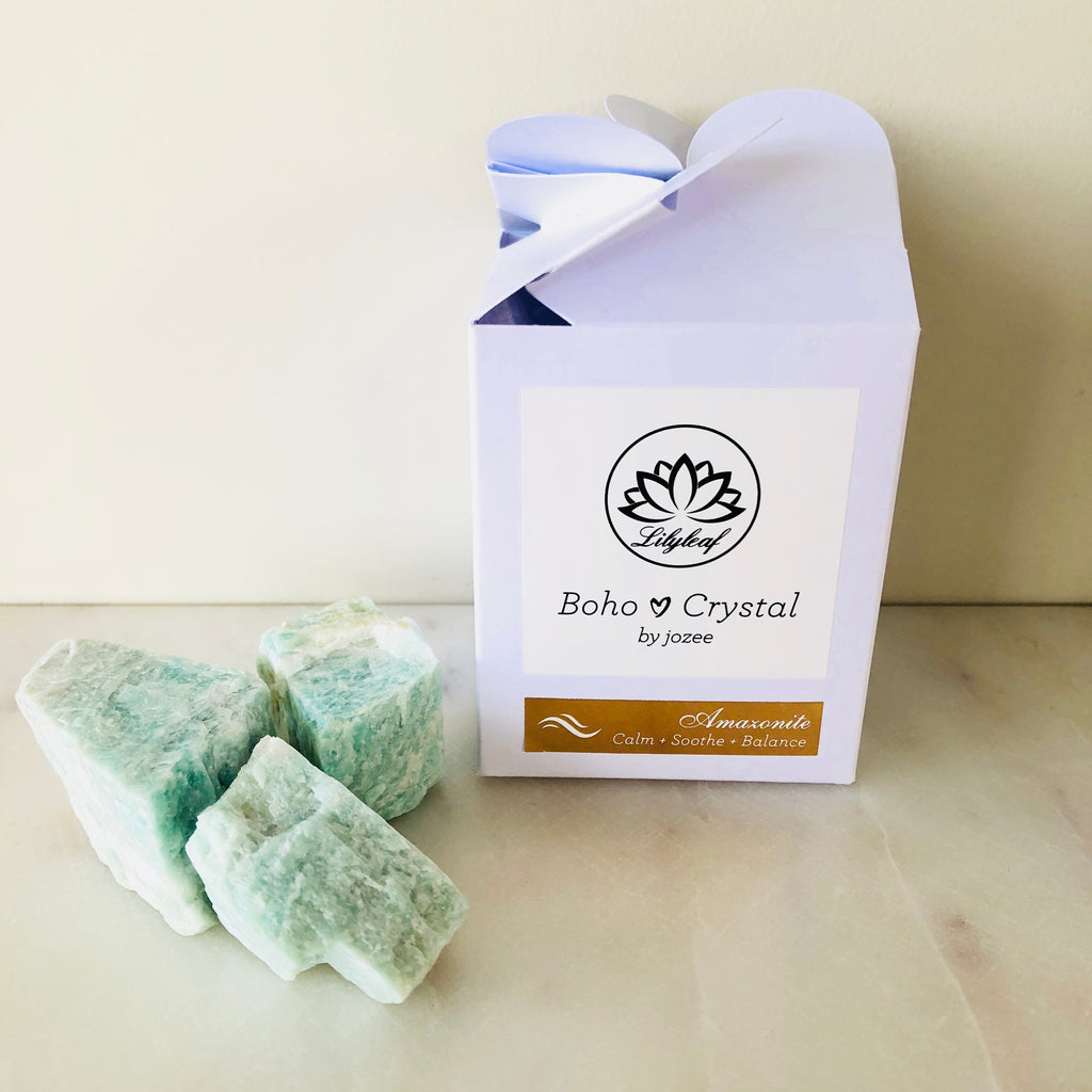 RAW CRYSTAL GIFT BOXES AMAZONITE