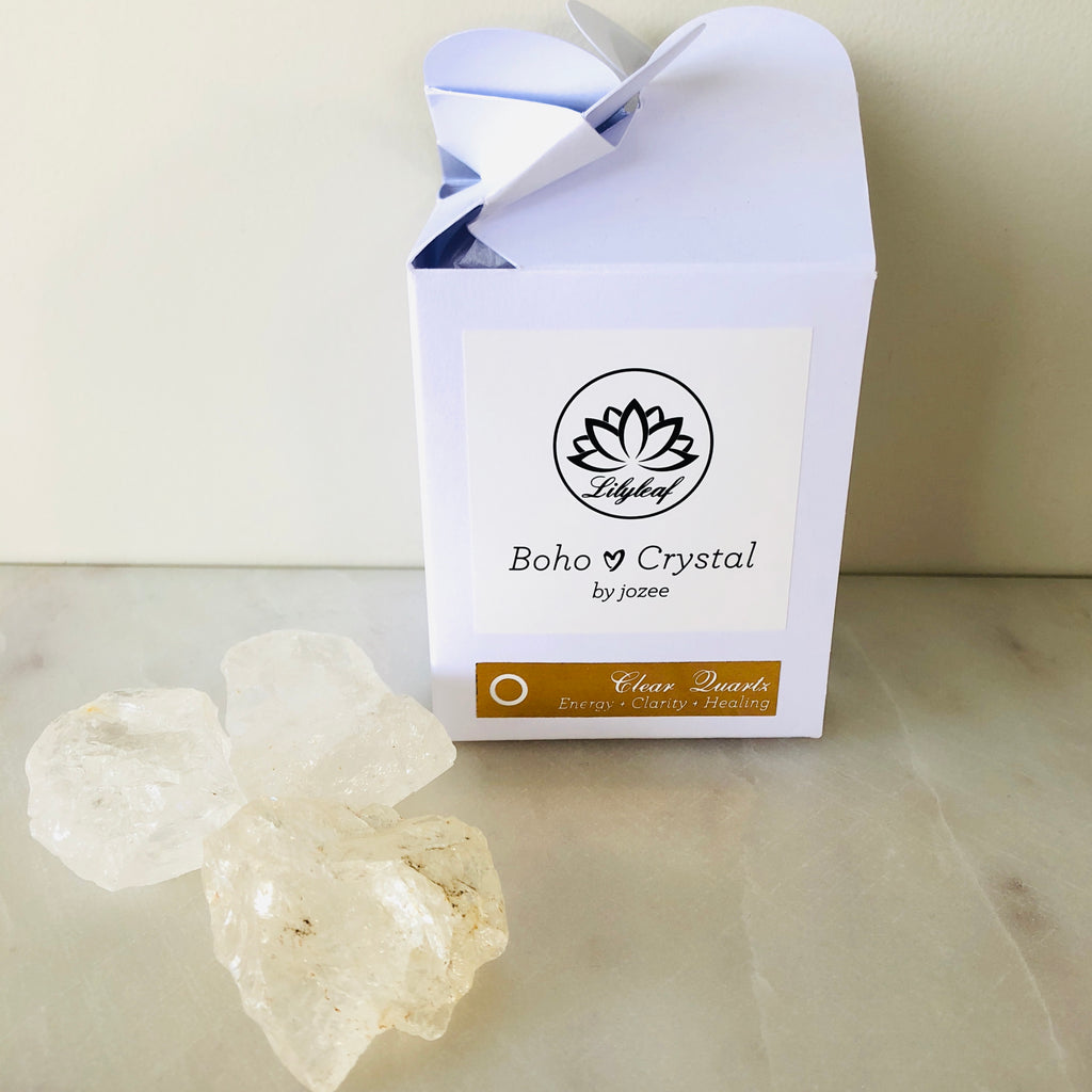 RAW CRYSTAL GIFT BOXES CLEAR QUARTZ