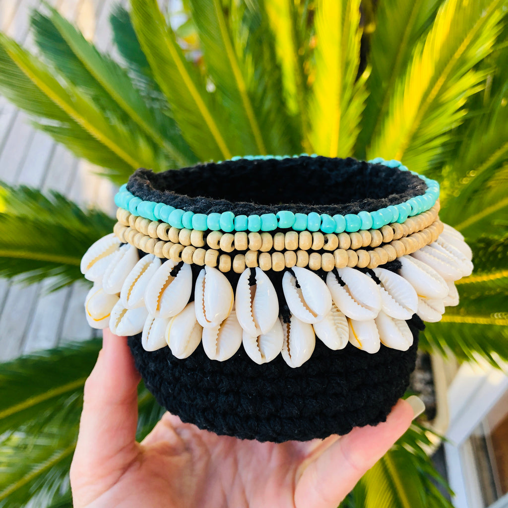 Shell Boho basket