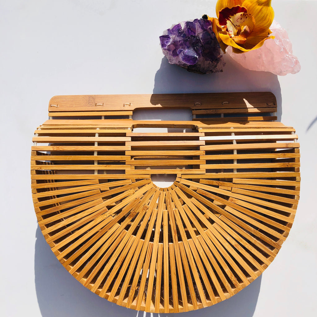 Boho Wooden Basket bag