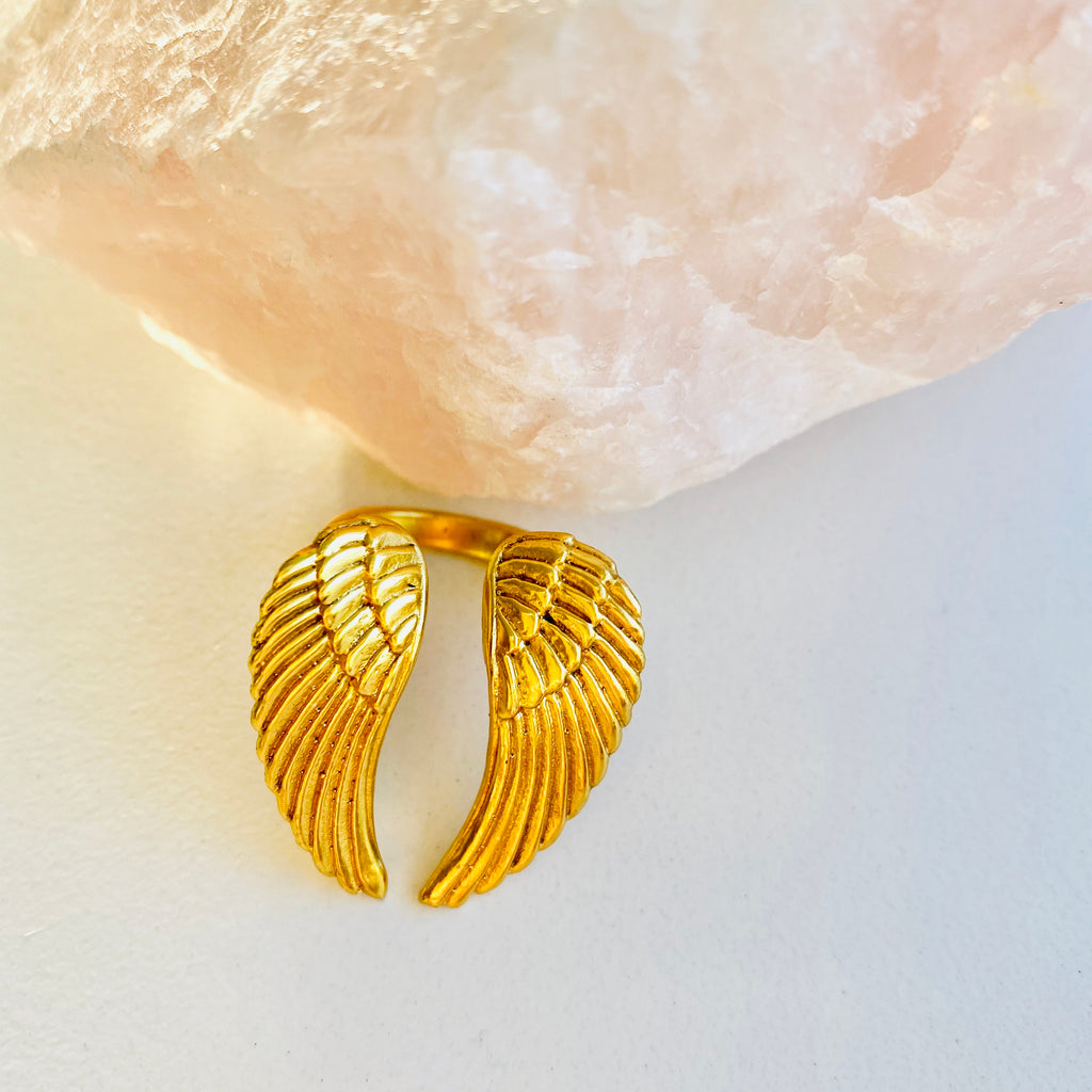 Angel Wings X Ring X Gold