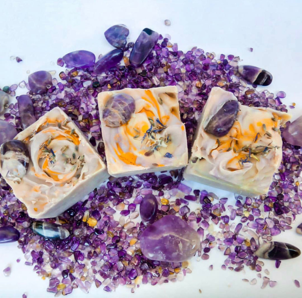 Soap X Amethyst gemstone X Vegan