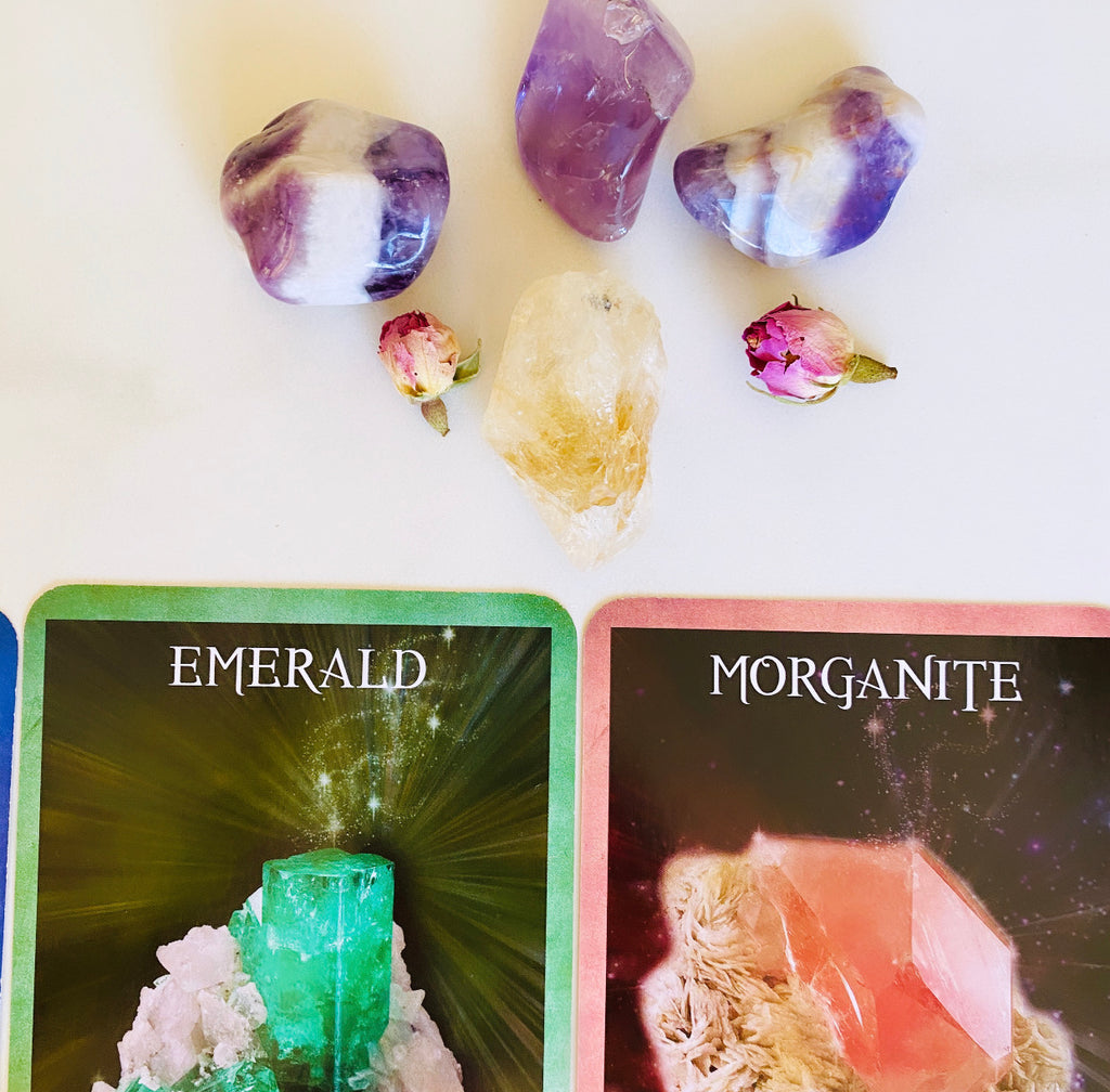 Personalised Card Reading X Crystal Healing 4 cards