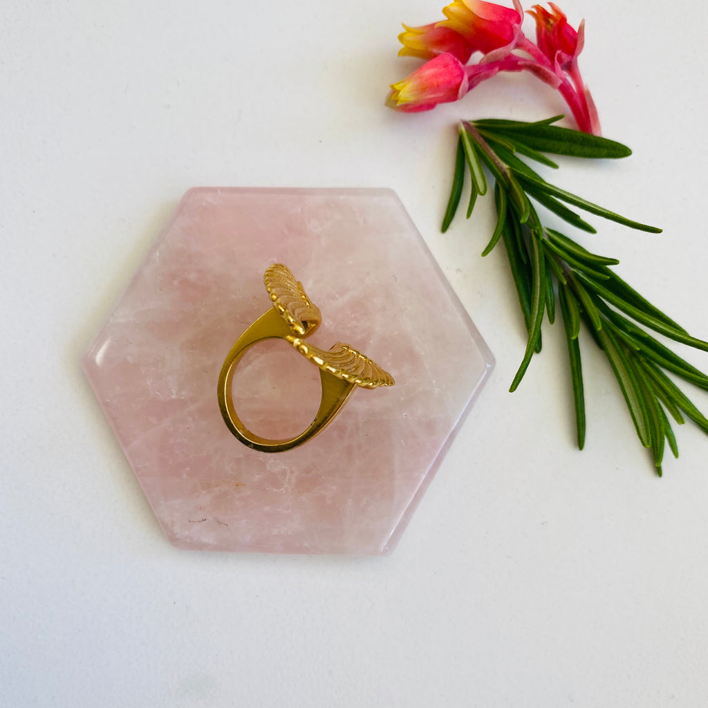 Rose quartz X Hexagon
