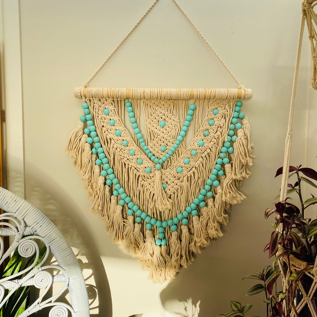 Macrame Beaded Wall Hanging