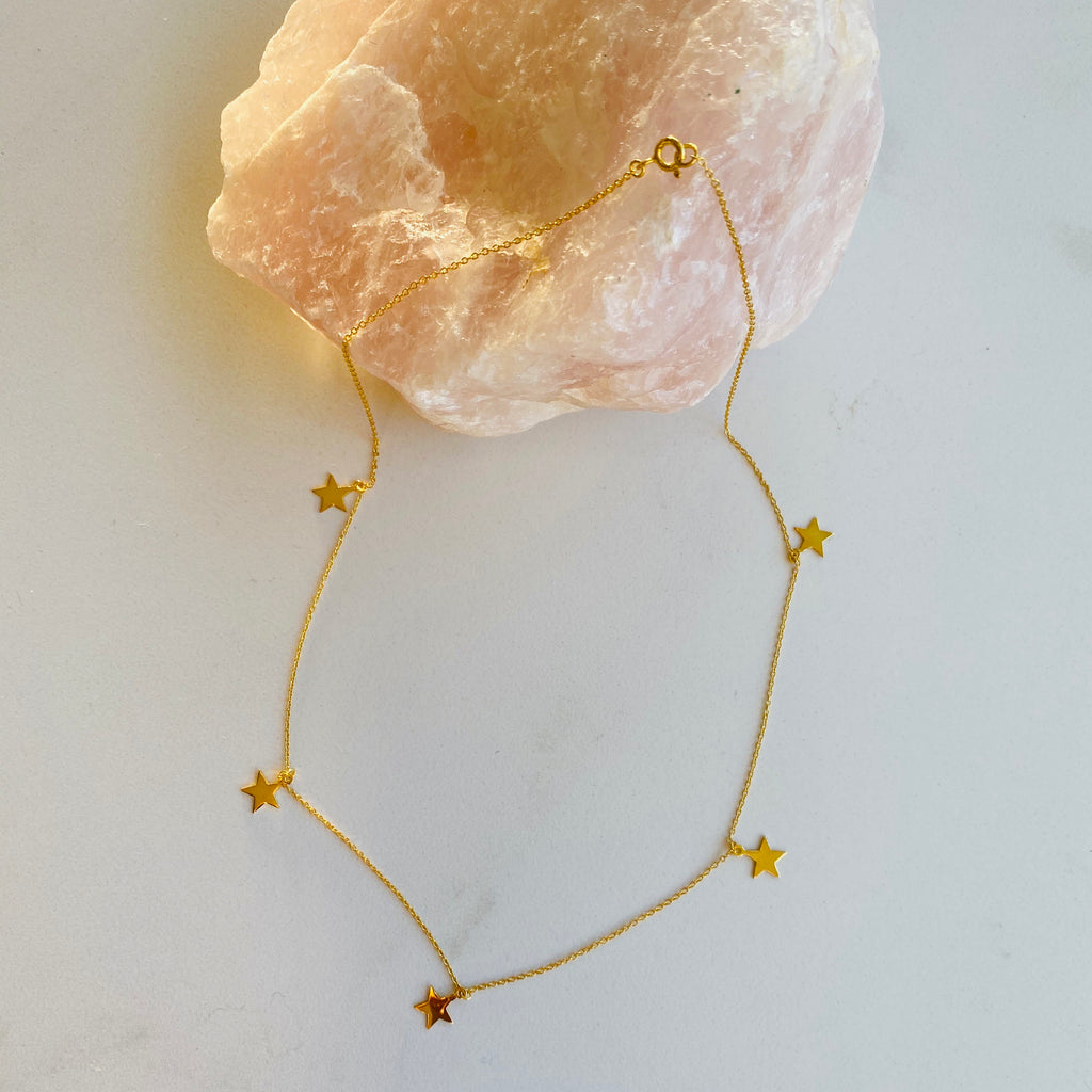 Live.Like.Lil X Bright Star Necklace X Gold