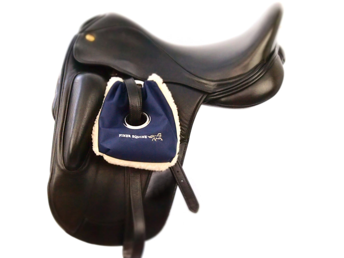 Finer Equine Waterproof Stirrup Cover Stirrup Bag with Eyelet