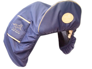 Luxury faux sheepskin lined  large dressage Saddle Cover with girth sleeves waterproof