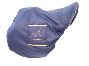 Luxury faux sheepskin lined  large Jump GP Saddle Cover with girth sleeves waterproof