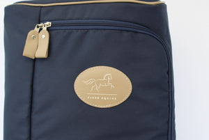 Finer Equine Bridle Bag Luxury Equestrian Luggage Sheepskin Lined with Pockets