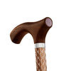 Engraved Cognac Walking Stick