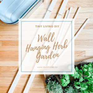 Tiny Living DIY Wall Hanging Herb Garden