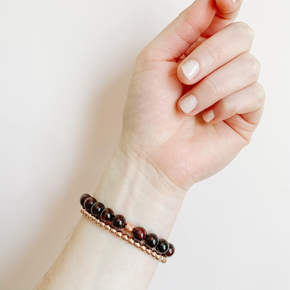 Grounded in Passion - Garnet & Hematite
