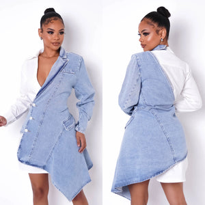 Kylie Half Denim Dress