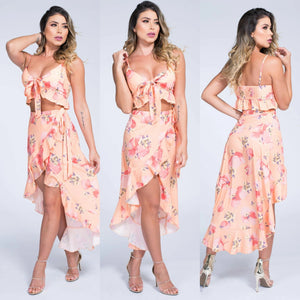 Peaches Skirt Set