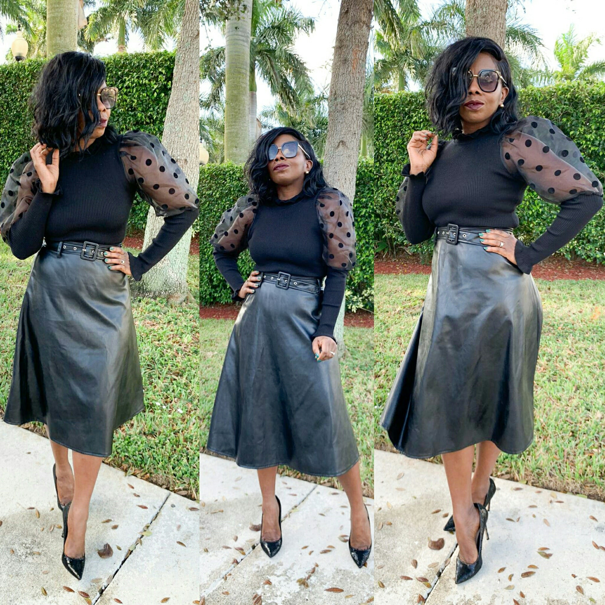 Lois Leather Skirt