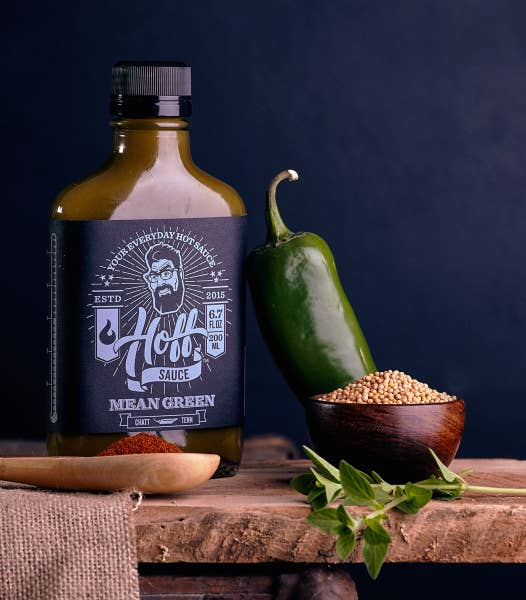 HOFF+PEPPER |Mean Green| Hoff's Green Jalapeno Hot Sauce