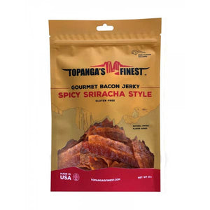 Gourmet Bacon Jerky | Spicy Sriracha Bacon | Topanga's Finest