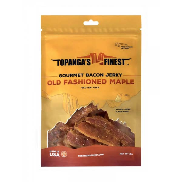 Gourmet Bacon Jerky | Old Fashion Maple | Topanga's Finest