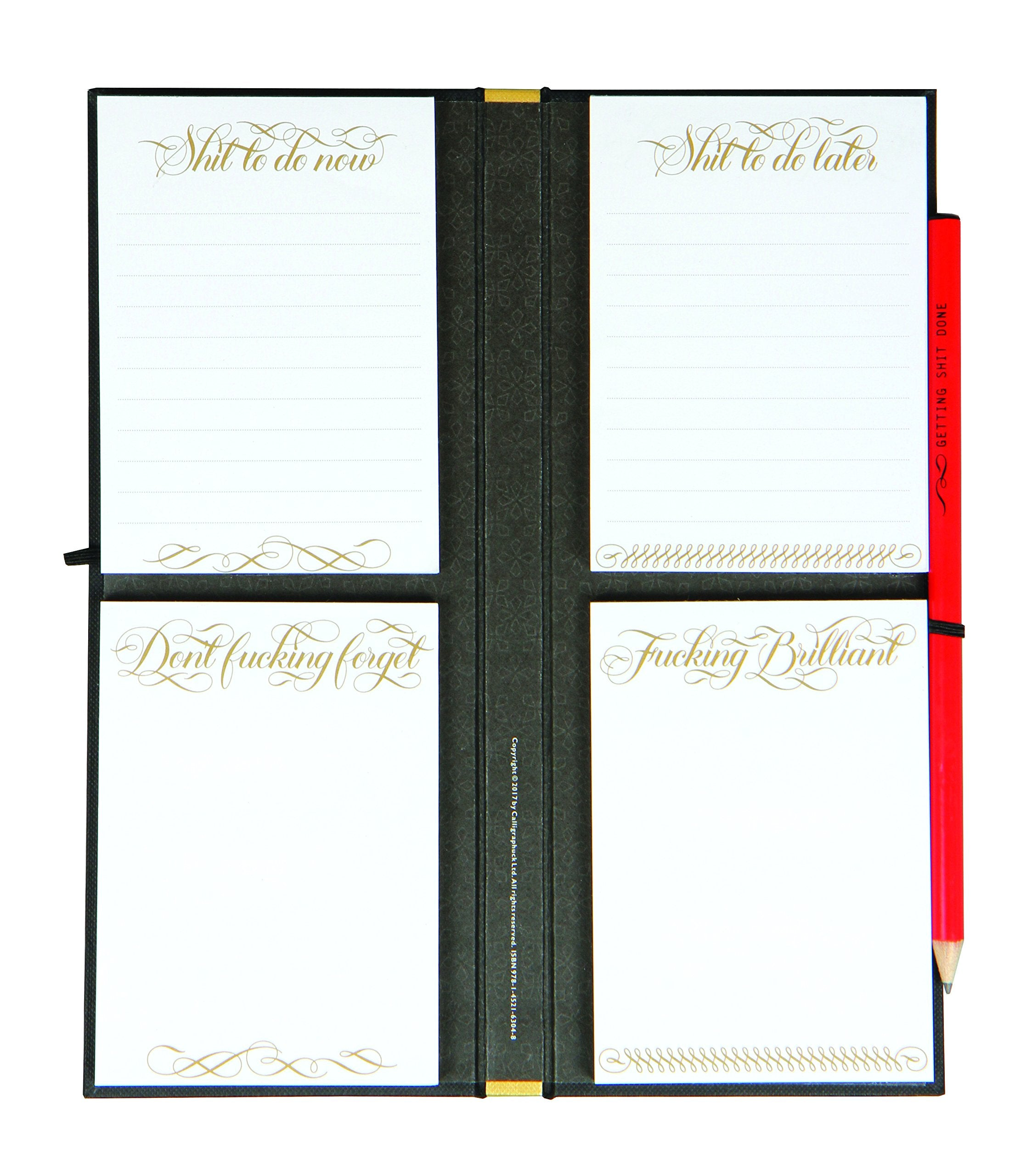 Calligraphuck's Getting Shit Done List Ledger